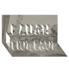 Peace In The Valley  Laugh Live Love 3d Greeting Card (8x4)  by SugaPlumsEmporium