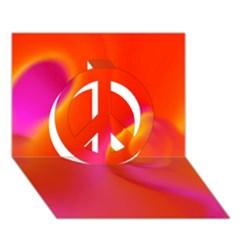 Orange Cream Peace Sign 3d Greeting Card (7x5)