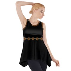 Black And Gold Side Drop Tank Tunic by VintageTaylor