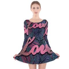 Love! Long Sleeve Velvet Skater Dress by SugaPlumsEmporium