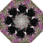 Freckles In Flowers Ii, Black White Tux Cat Golf Umbrellas