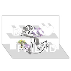 2 Combo Flowersa  Best Friends 3d Greeting Card (8x4)