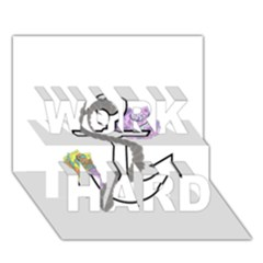 2 Combo Flowersa  Work Hard 3d Greeting Card (7x5)