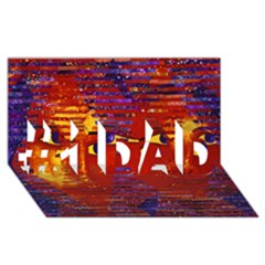 Conundrum Iii, Abstract Purple & Orange Goddess #1 Dad 3d Greeting Card (8x4)  by DianeClancy