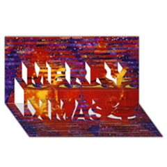 Conundrum Iii, Abstract Purple & Orange Goddess Merry Xmas 3d Greeting Card (8x4)