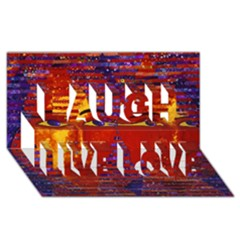 Conundrum Iii, Abstract Purple & Orange Goddess Laugh Live Love 3d Greeting Card (8x4)  by DianeClancy