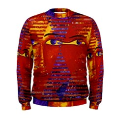 Conundrum Iii, Abstract Purple & Orange Goddess Men s Sweatshirt by DianeClancy