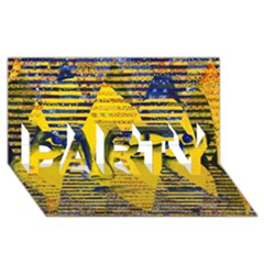 Conundrum Ii, Abstract Golden & Sapphire Goddess Party 3d Greeting Card (8x4)