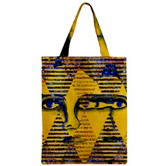 Conundrum Ii, Abstract Golden & Sapphire Goddess Classic Tote Bag by DianeClancy