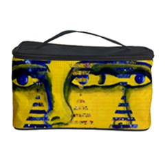 Conundrum Ii, Abstract Golden & Sapphire Goddess Cosmetic Storage Cases by DianeClancy