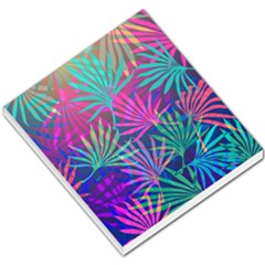 Colored Palm Leaves Background Small Memo Pads by TastefulDesigns