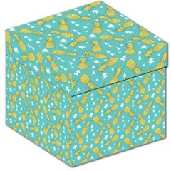 Summer Pineapples Fruit Pattern Storage Stool 12   by TastefulDesigns