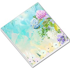 Watercolor Fresh Flowery Background Small Memo Pads by TastefulDesigns