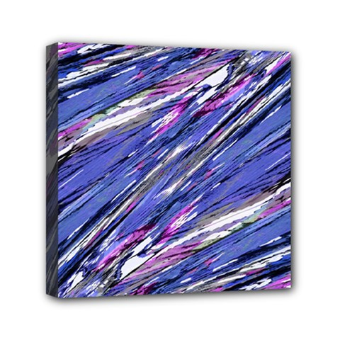 Abstract Collage Print Mini Canvas 6  X 6  by dflcprints