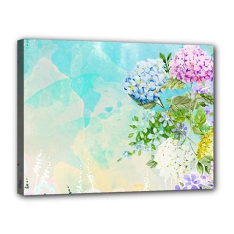 Watercolor Fresh Flowery Background Canvas 16  X 12  by TastefulDesigns