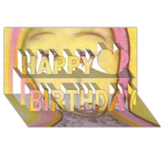 Portrait Of Archangel Michael, Spiritual Chalks Drawing Happy Birthday 3d Greeting Card (8x4)  by yoursparklingshop