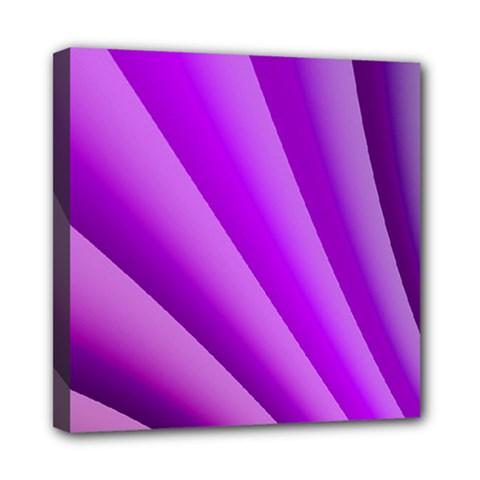 Gentle Folds Of Purple Mini Canvas 8  X 8  by FunWithFibro