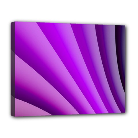 Gentle Folds Of Purple Canvas 14  X 11  by FunWithFibro