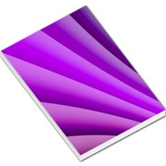 Gentle Folds Of Purple Large Memo Pads