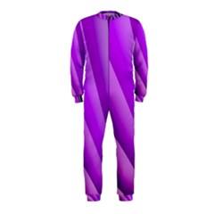 Gentle Folds Of Purple Onepiece Jumpsuit (kids) by FunWithFibro