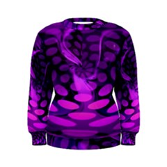 Abstract In Purple Women s Sweatshirt by FunWithFibro