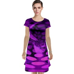 Abstract In Purple Cap Sleeve Nightdress by FunWithFibro