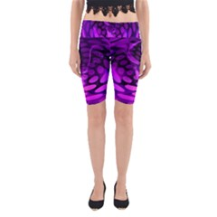Abstract In Purple Yoga Cropped Leggings by FunWithFibro