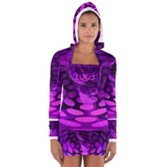 Abstract In Purple Women s Long Sleeve Hooded T Shirt by FunWithFibro