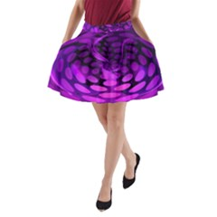 Abstract In Purple A Line Pocket Skirt by FunWithFibro