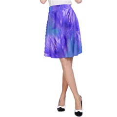 Flowers Cornflower Floral Chic Stylish Purple  A Line Skirt by yoursparklingshop