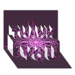 Pink Kaleidoscope Flower Mandala Art Thank You 3d Greeting Card (7x5)  by yoursparklingshop