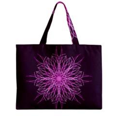 Pink Kaleidoscope Flower Mandala Art Zipper Mini Tote Bag by yoursparklingshop
