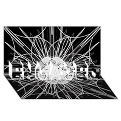 Black And White Flower Mandala Art Kaleidoscope Engaged 3d Greeting Card (8x4)