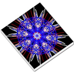 Kaleidoscope Flower Mandala Art Black White Red Blue Small Memo Pads by yoursparklingshop