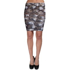 Festive Silver Metallic Abstract Art Bodycon Skirts by yoursparklingshop