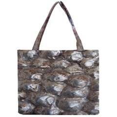 Festive Silver Metallic Abstract Art Mini Tote Bag by yoursparklingshop