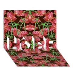 Floral Collage Pattern Hope 3d Greeting Card (7x5)