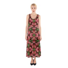 Floral Collage Pattern Sleeveless Maxi Dress by dflcprintsclothing