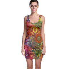 Circle Fantasies Sleeveless Bodycon Dress by KirstenStar