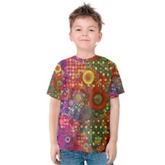 Circle Fantasies Kid s Cotton Tee by KirstenStar