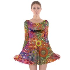 Circle Fantasies Long Sleeve Skater Dress by KirstenStar