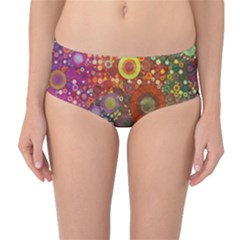 Circle Fantasies Mid Waist Bikini Bottoms by KirstenStar