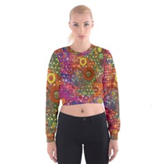Circle Fantasies Women s Cropped Sweatshirt by KirstenStar