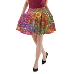 Circle Fantasies A-Line Pocket Skirt by KirstenStar