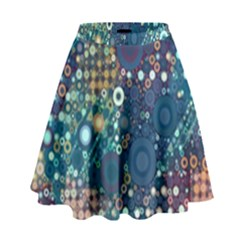 Babybluebubbles High Waist Skirt by KirstenStar