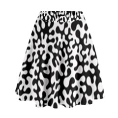 Black And White Blots  High Waist Skirt by KirstenStar