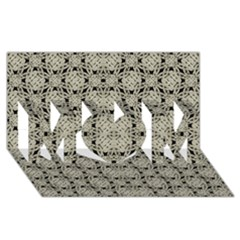 Interlace Arabesque Pattern Mom 3d Greeting Card (8x4)