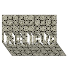 Interlace Arabesque Pattern Believe 3d Greeting Card (8x4)