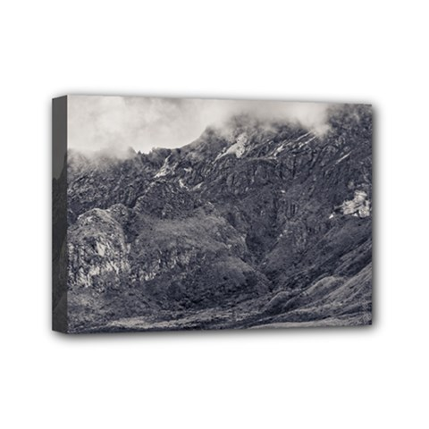 Rocky Mountain From Top Of Cruz Loma Hill Quito Ecuador Mini Canvas 7  x 5  by dflcprints