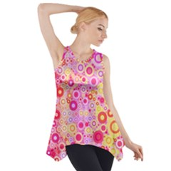 Sweet Pink Bubbles Side Drop Tank Tunic by KirstenStar